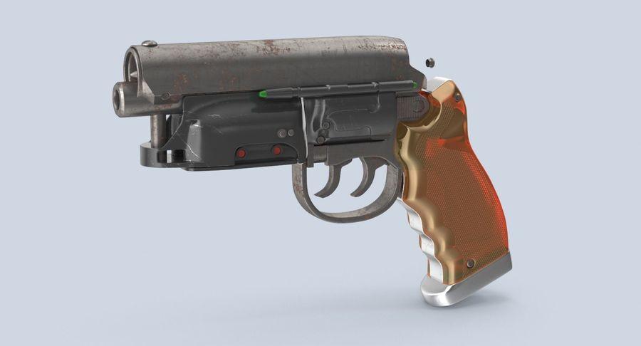Blade Runner Deckard Gun royalty-free 3d model - Preview no. 3