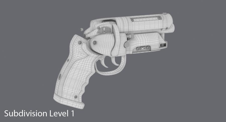 Blade Runner Deckard Gun royalty-free 3d model - Preview no. 20