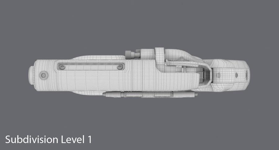 Blade Runner Deckard Gun royalty-free 3d model - Preview no. 19