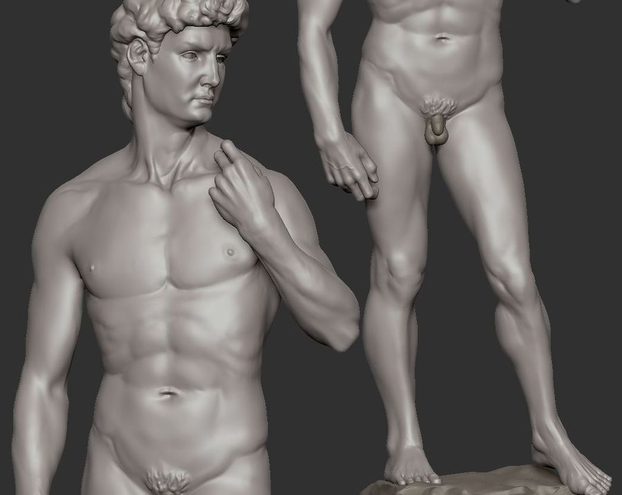 David Statue royalty-free 3d model - Preview no. 5