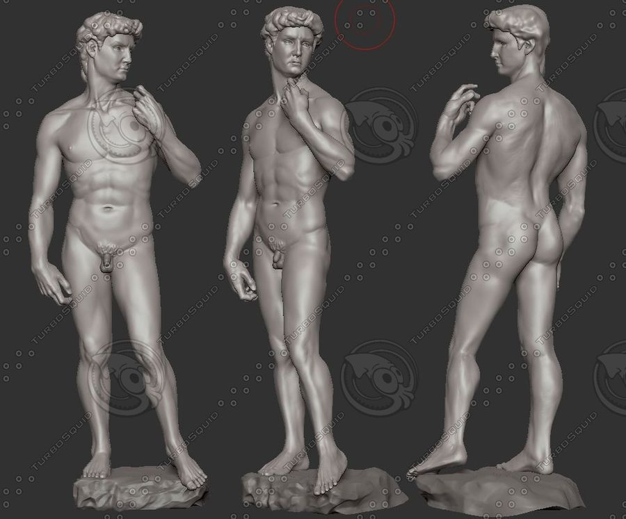 David Statue royalty-free 3d model - Preview no. 2