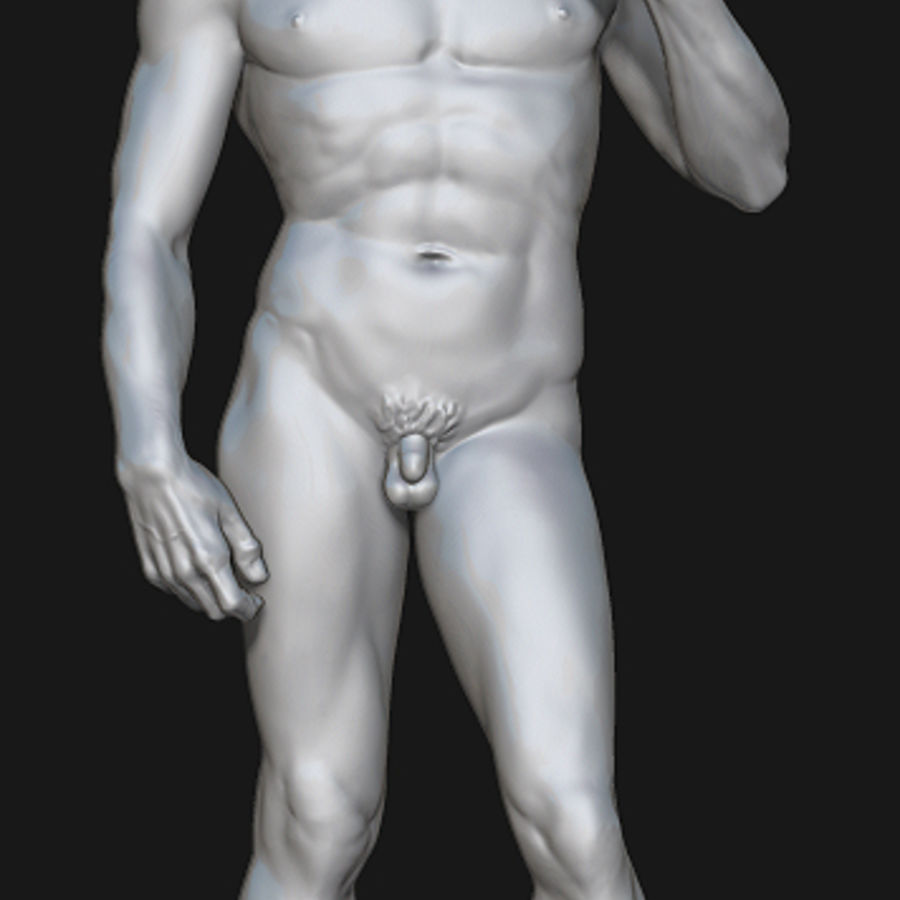 David Statue royalty-free 3d model - Preview no. 1