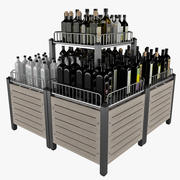 Market Display Stand For Bottle 3d model