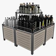 Présentoir de marché pour la bouteille 3d model