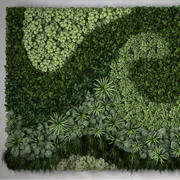 Vertical garden made up of 3 modules 3d model