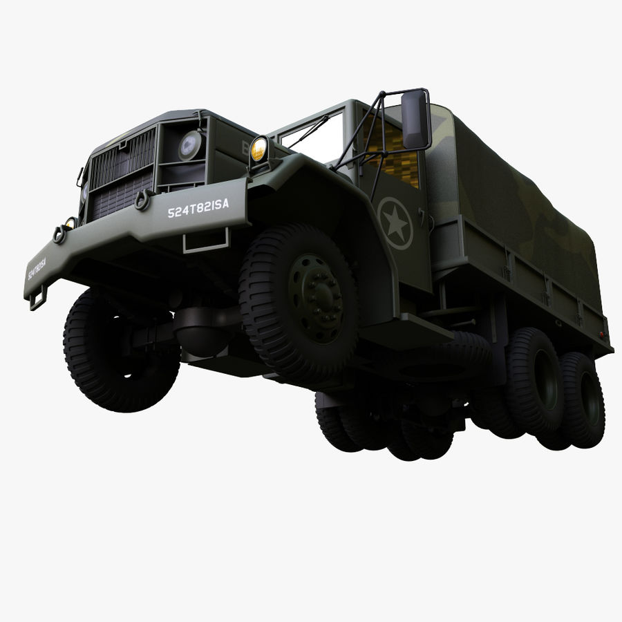 Military Truck Reo M35A2 royalty-free 3d model - Preview no. 9