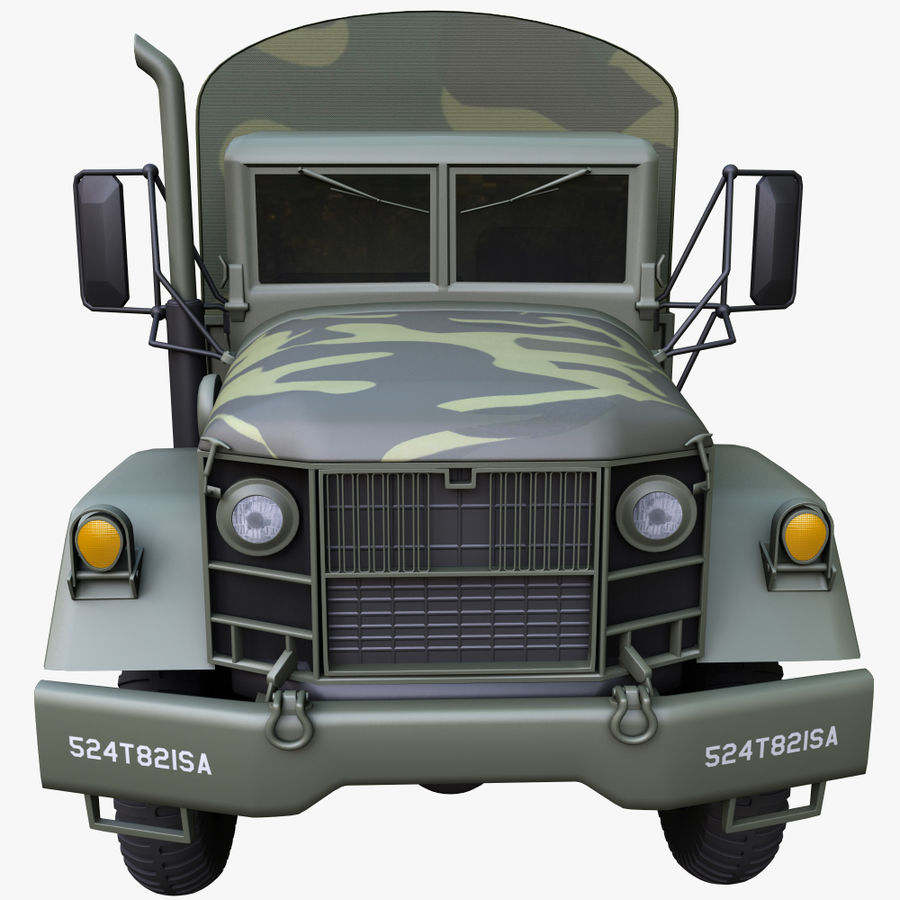 Military Truck Reo M35A2 royalty-free 3d model - Preview no. 10