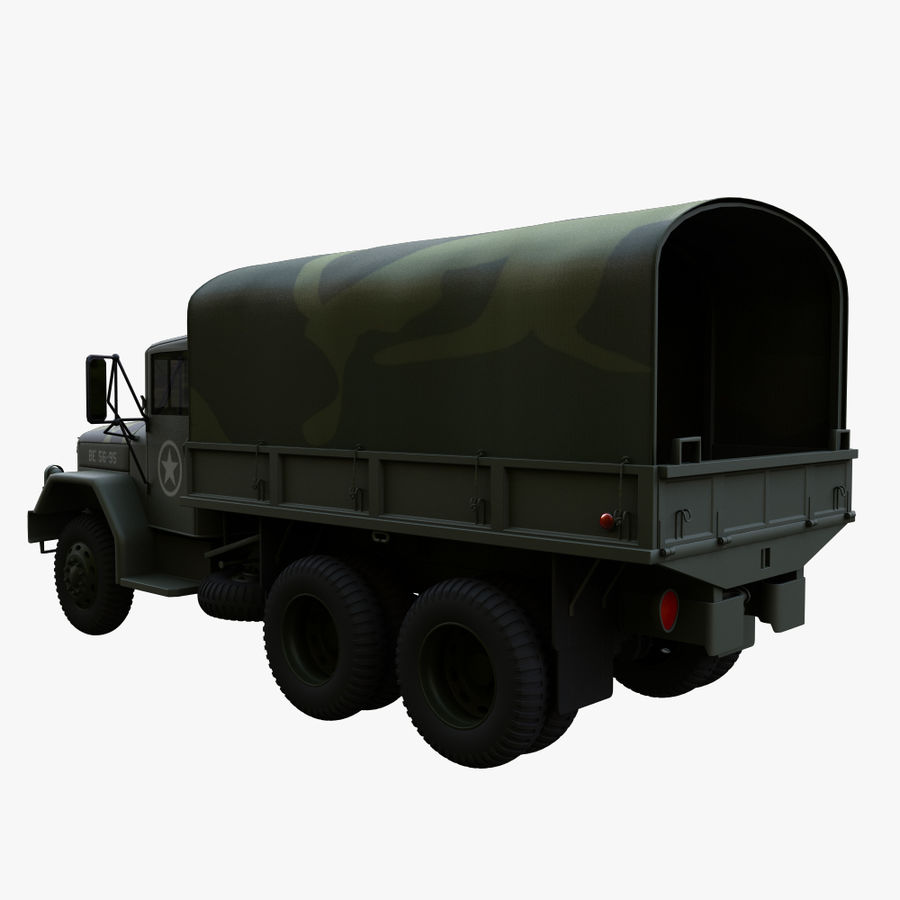 Military Truck Reo M35A2 royalty-free 3d model - Preview no. 5