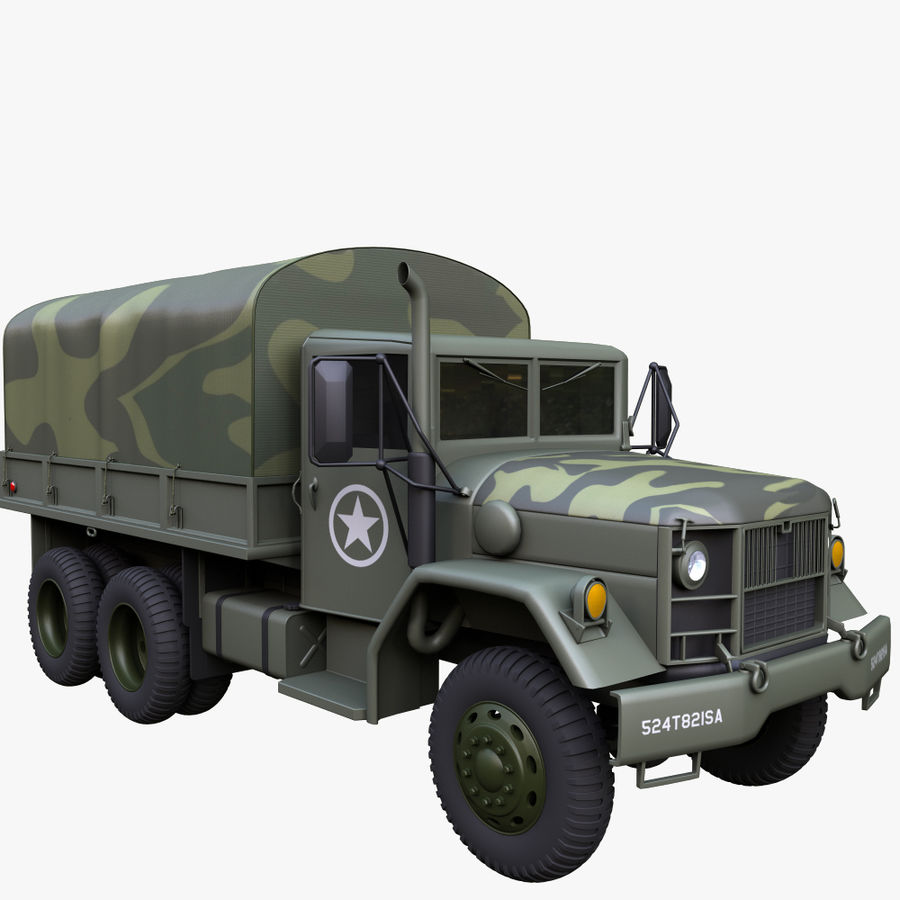 Military Truck Reo M35A2 royalty-free 3d model - Preview no. 1
