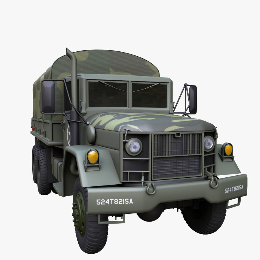 Military Truck Reo M35A2 royalty-free 3d model - Preview no. 2