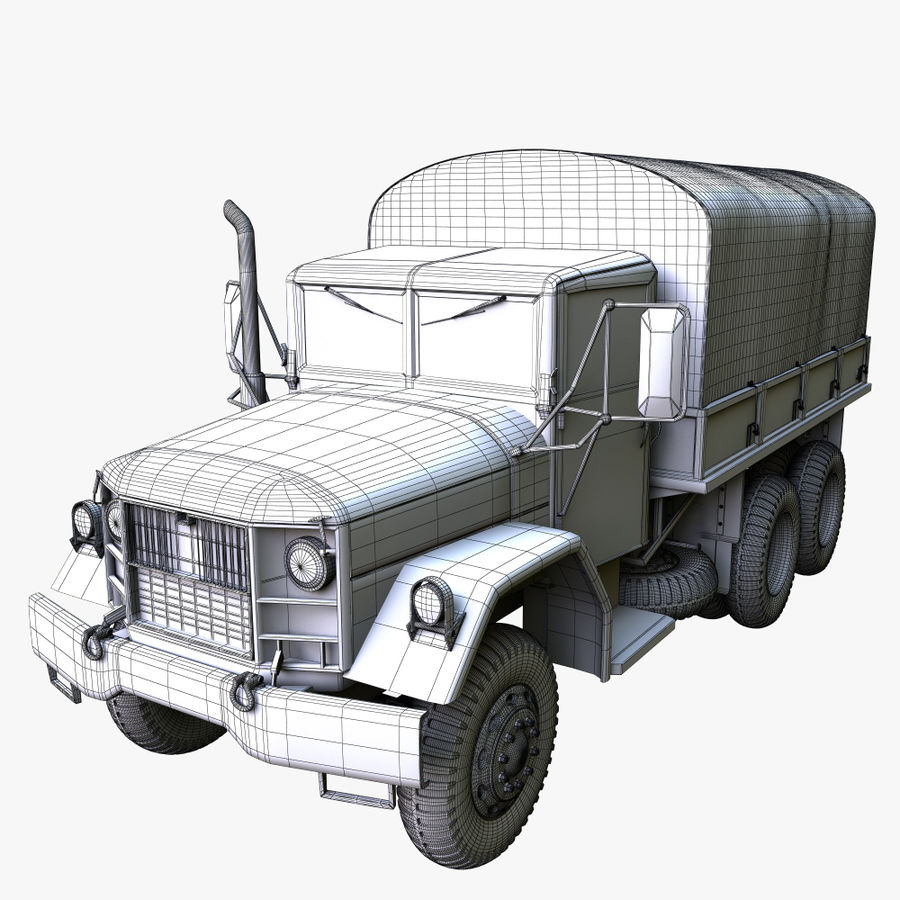Military Truck Reo M35A2 royalty-free 3d model - Preview no. 12