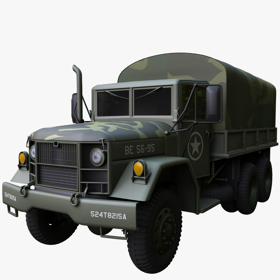 Military Truck Reo M35A2 royalty-free 3d model - Preview no. 3