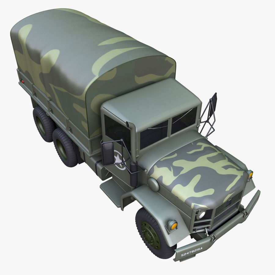 Military Truck Reo M35A2 royalty-free 3d model - Preview no. 7