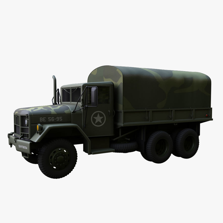 Military Truck Reo M35A2 royalty-free 3d model - Preview no. 4