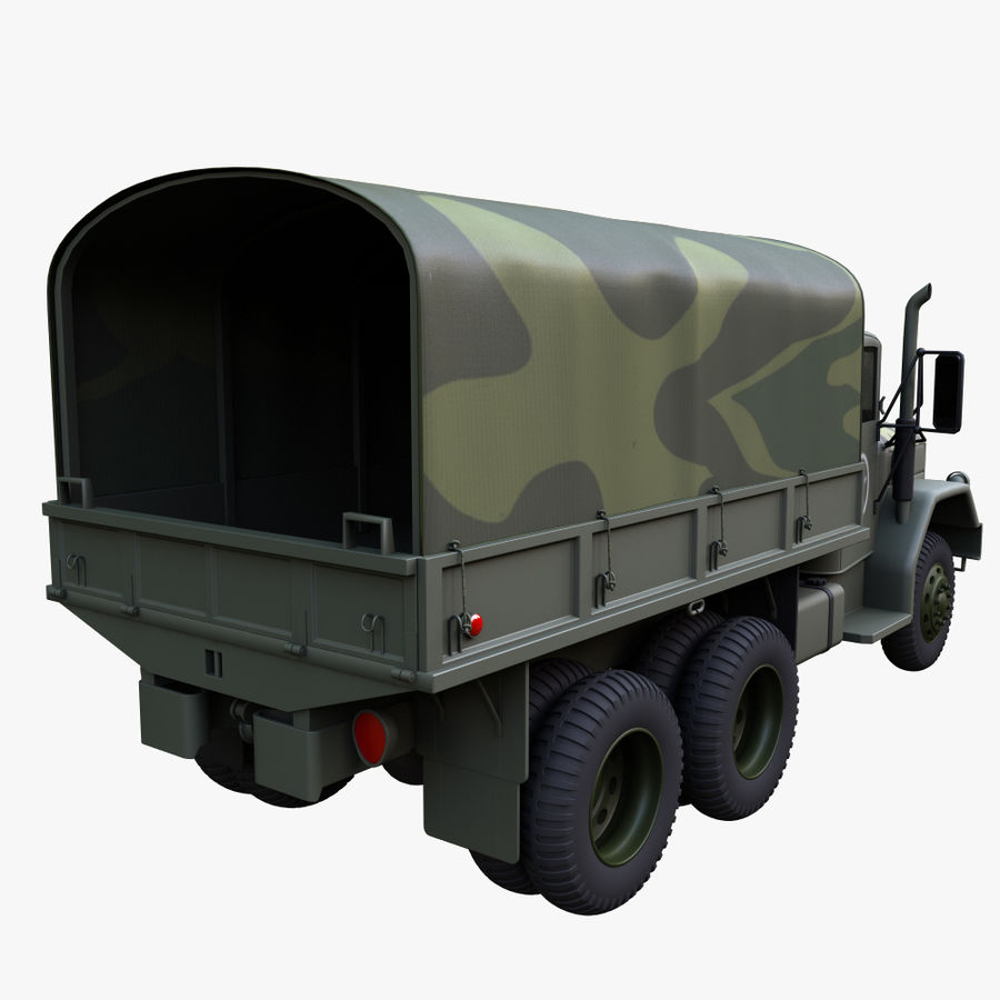 Military Truck Reo M35A2 royalty-free 3d model - Preview no. 6
