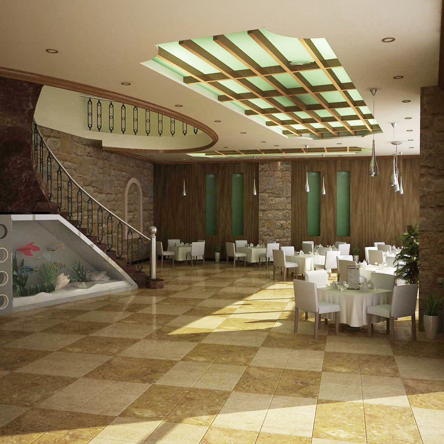 resturant royalty-free 3d model - Preview no. 1
