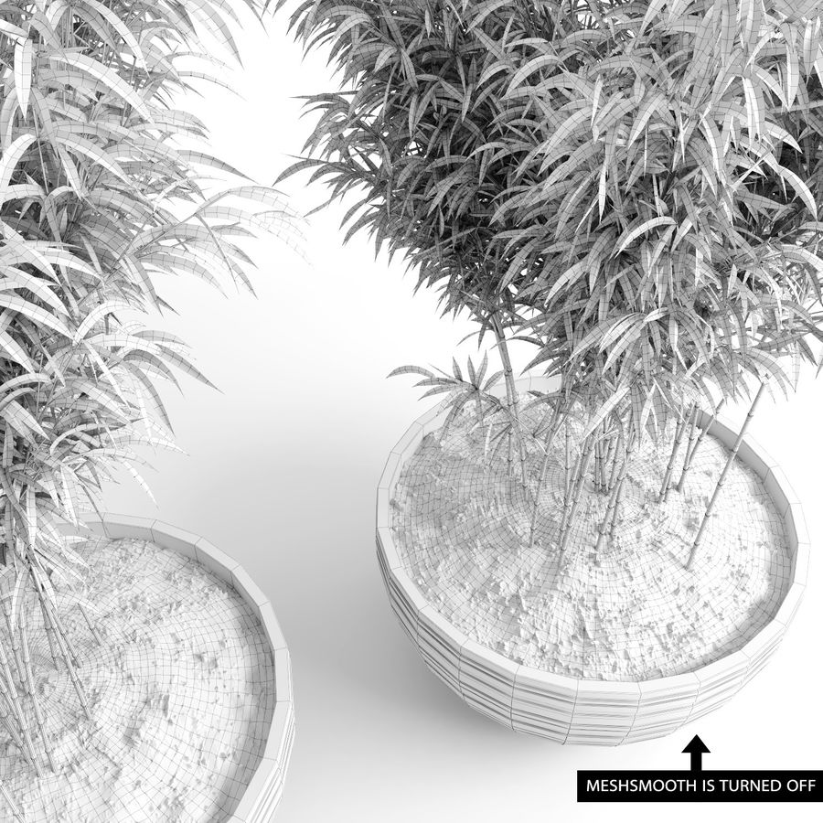 Umbrella Bamboos (+GrowFX) royalty-free 3d model - Preview no. 1