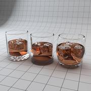 Copos para copos de pedra 3d model