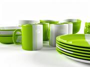 Set color Romanian dishes 3d model