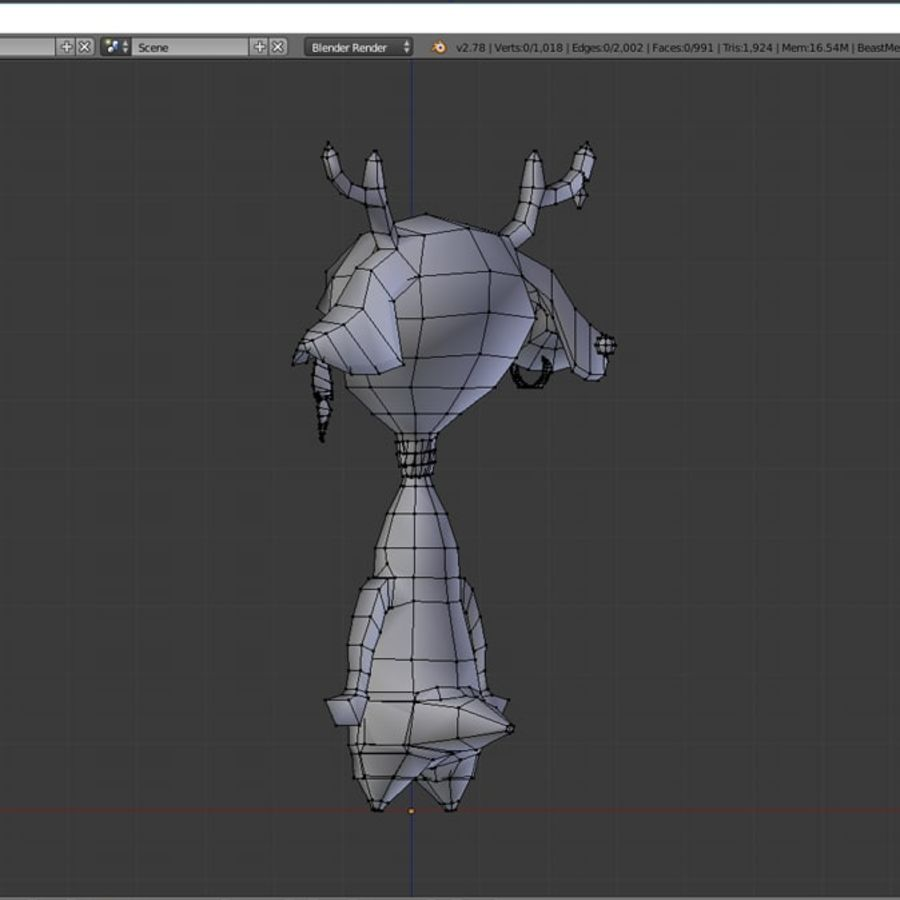 beast royalty-free 3d model - Preview no. 10