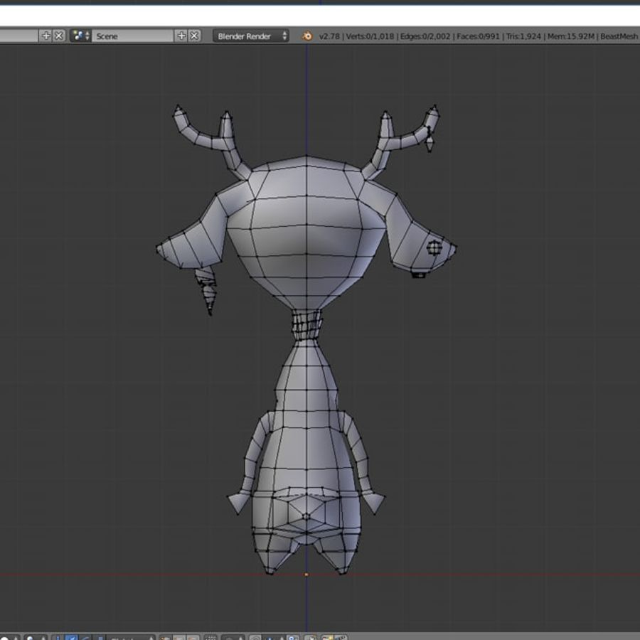 beast royalty-free 3d model - Preview no. 9