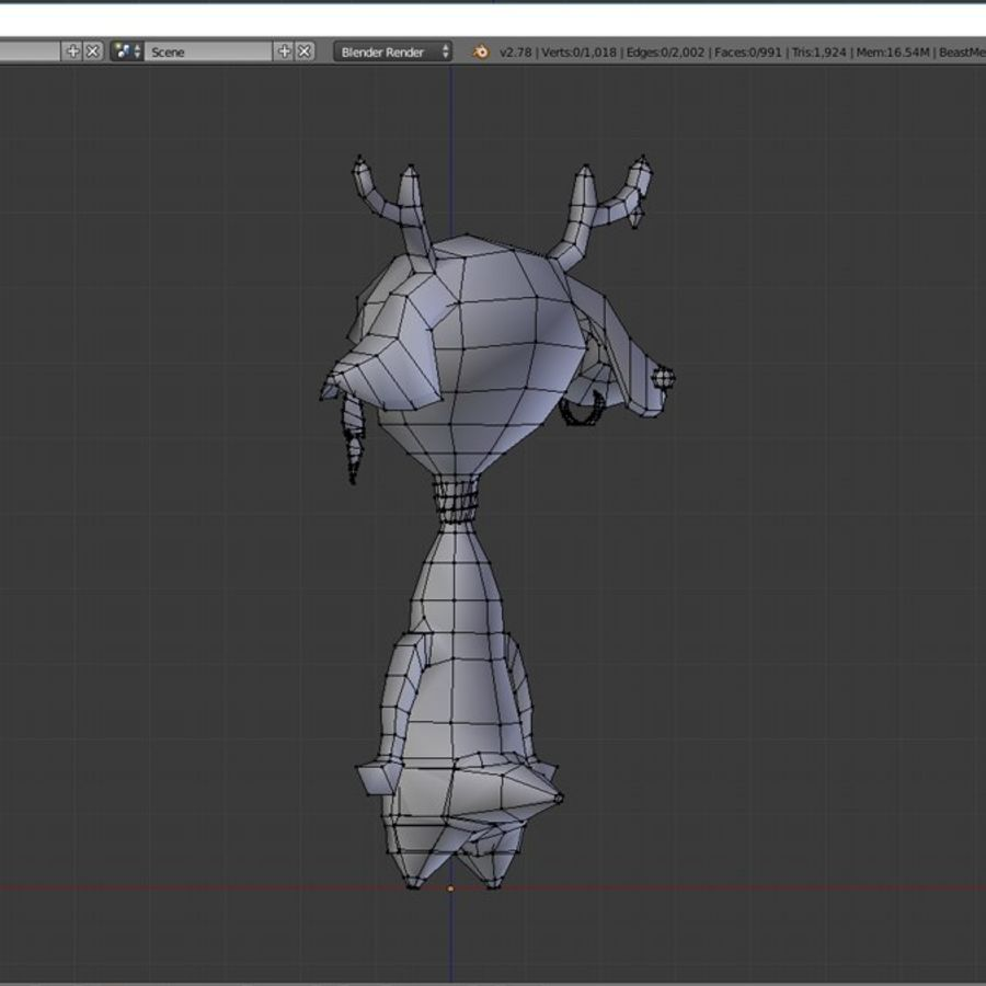 beast royalty-free 3d model - Preview no. 11