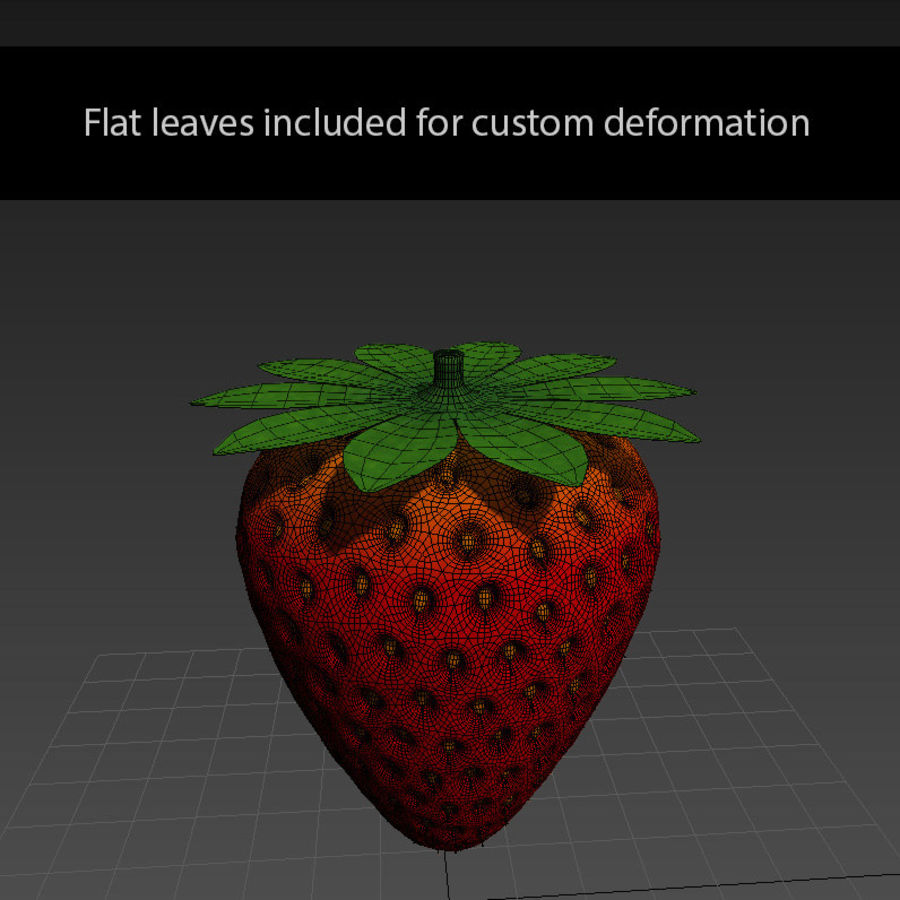 fragola royalty-free 3d model - Preview no. 5
