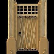 Piękne średniowieczne drzwi 3d model