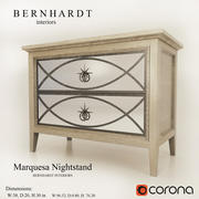 Szafka nocna Marquesa BERNHARDT 3d model