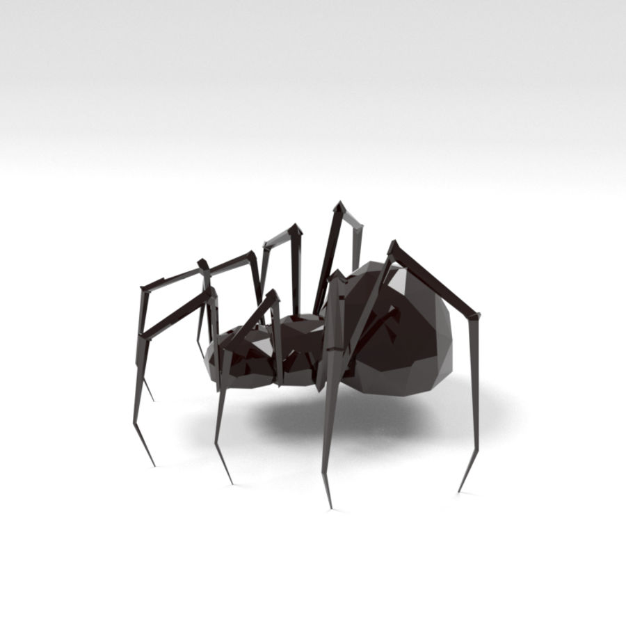 Spider low poly royalty-free 3d model - Preview no. 3