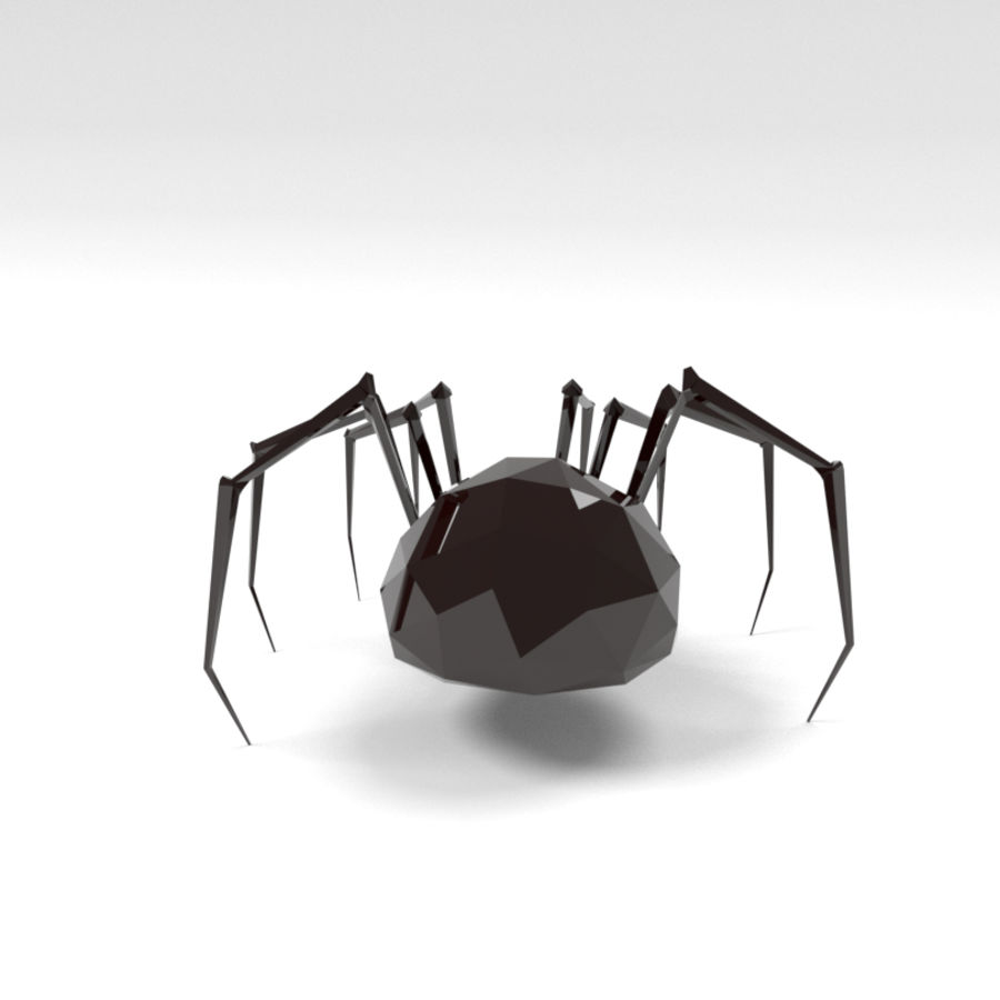 Spider low poly royalty-free 3d model - Preview no. 2
