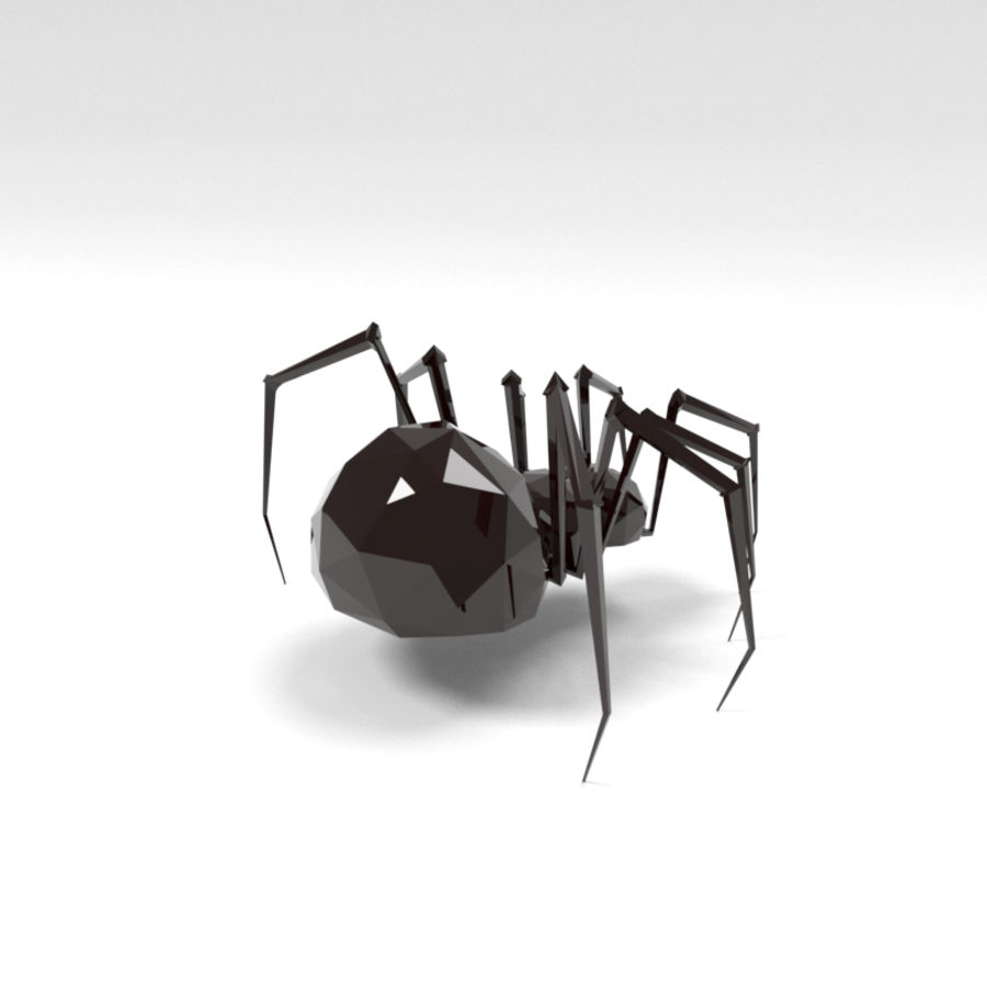 Spider low poly royalty-free 3d model - Preview no. 4