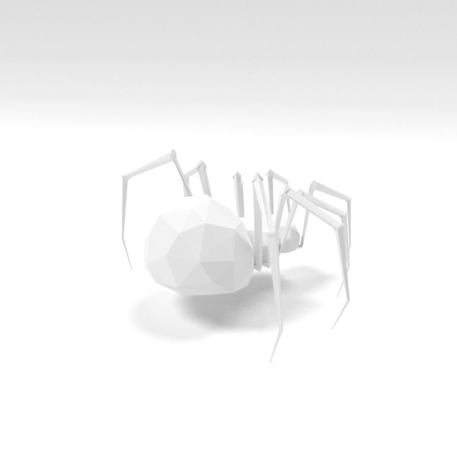 Spider low poly royalty-free 3d model - Preview no. 5