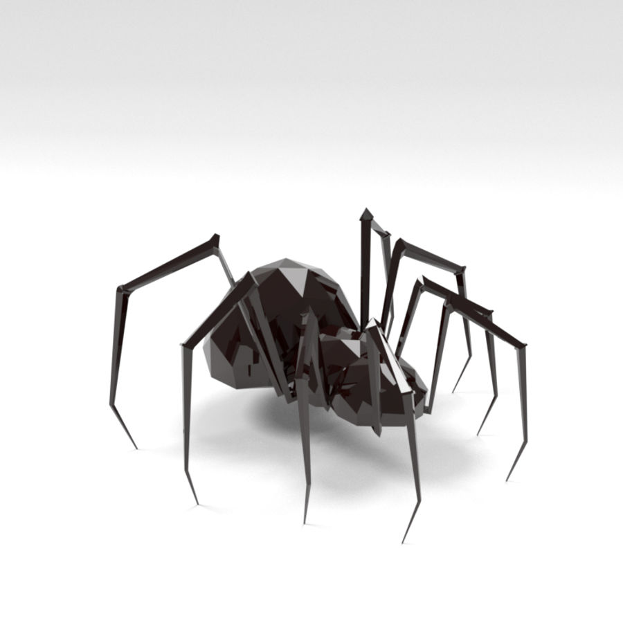Spider low poly royalty-free 3d model - Preview no. 1