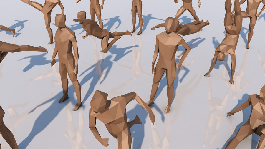 LowPoly Human - Sammlung royalty-free 3d model - Preview no. 4