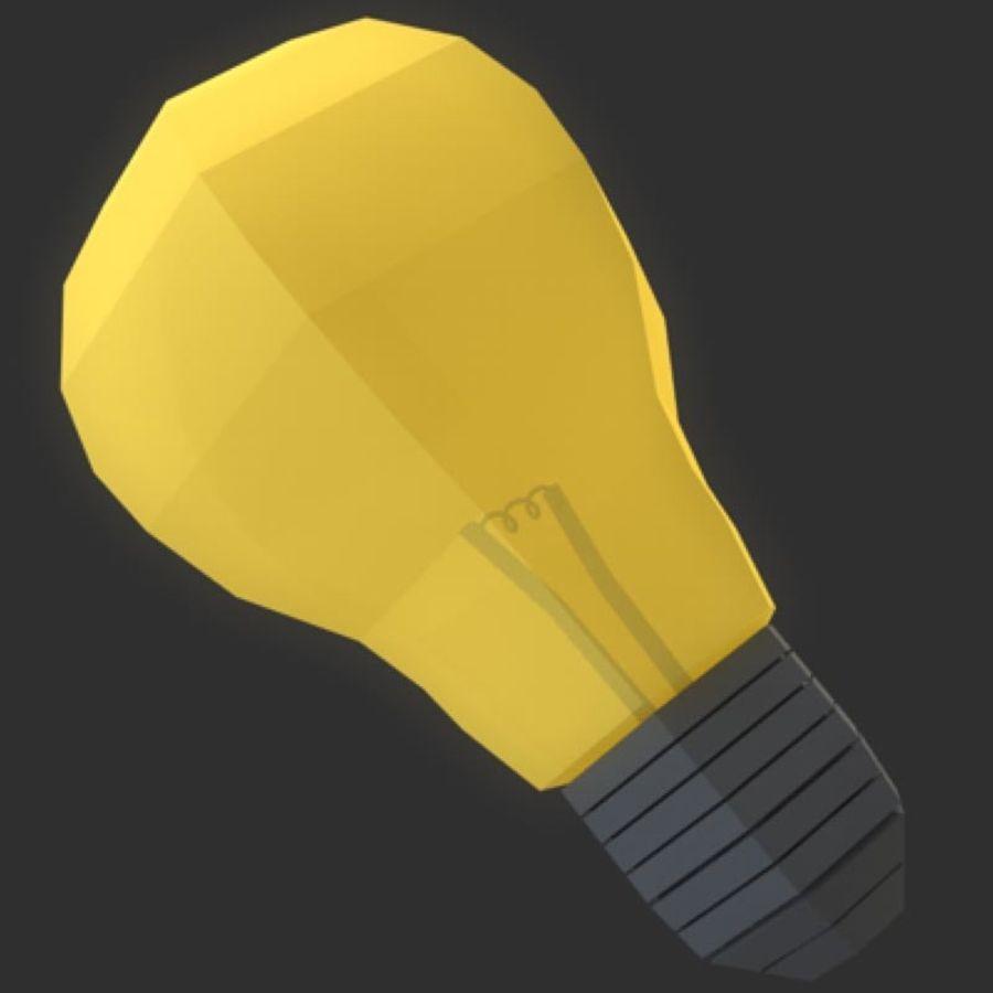 ampoule basse poly (jeu prêt) royalty-free 3d model - Preview no. 2