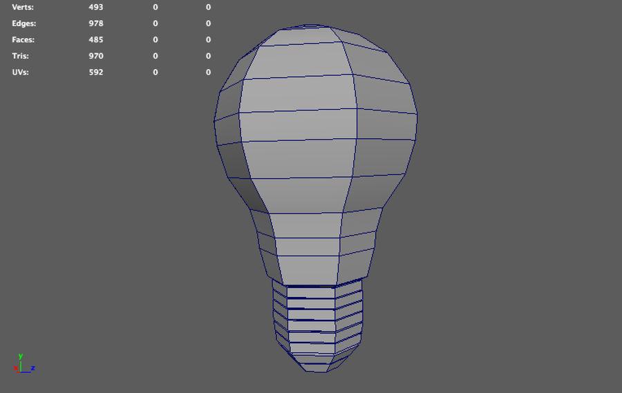 ampoule basse poly (jeu prêt) royalty-free 3d model - Preview no. 7