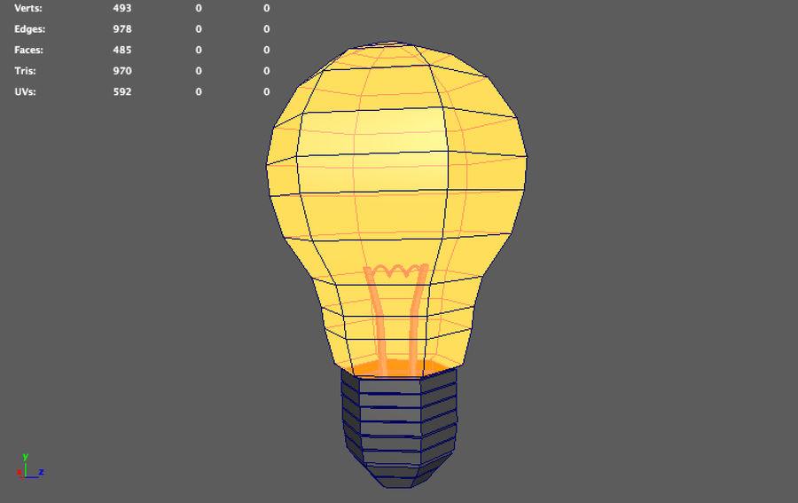 ampoule basse poly (jeu prêt) royalty-free 3d model - Preview no. 5