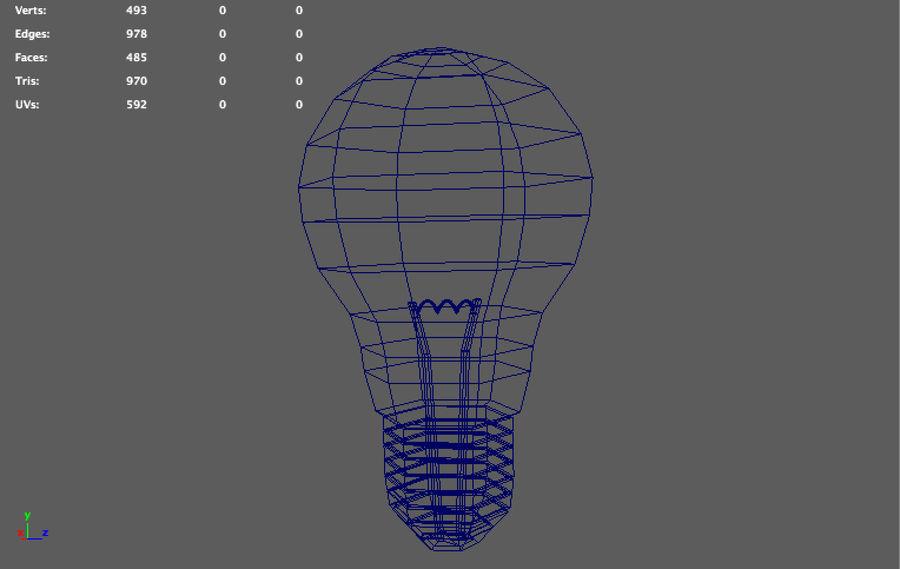 ampoule basse poly (jeu prêt) royalty-free 3d model - Preview no. 3