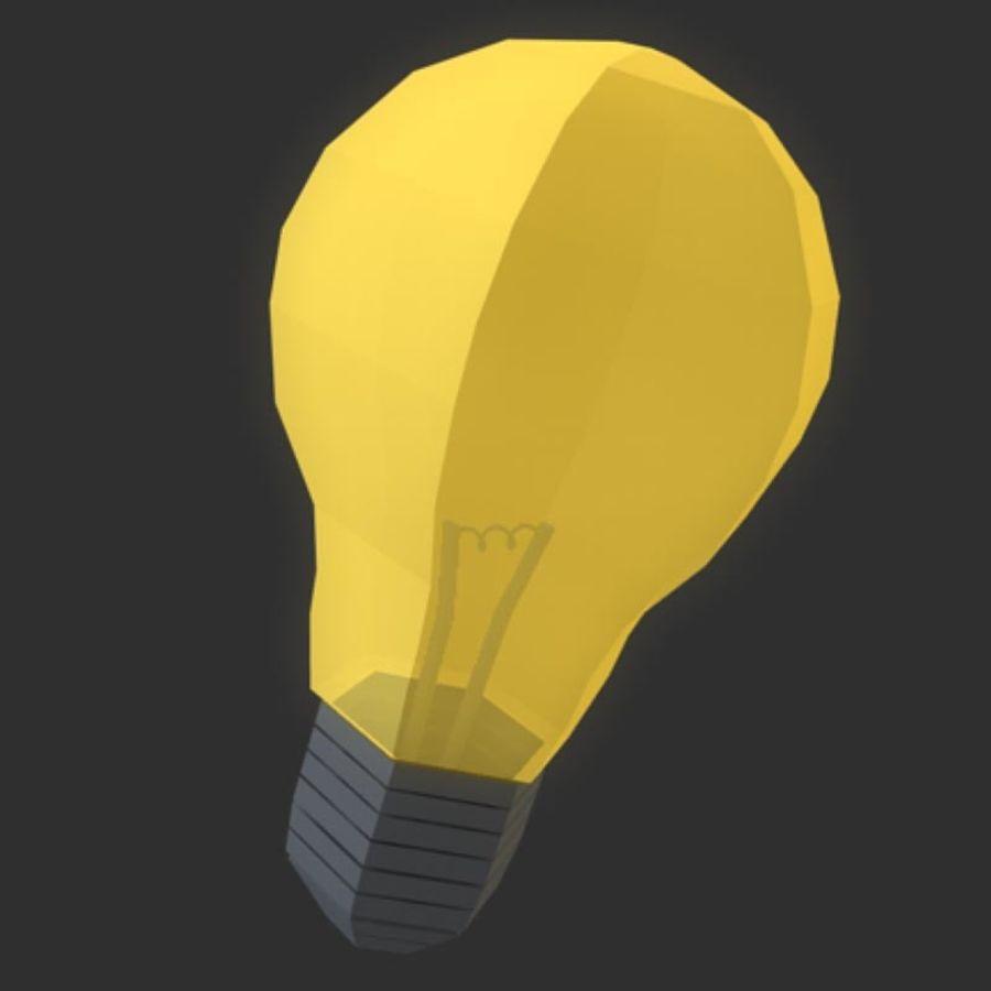 ampoule basse poly (jeu prêt) royalty-free 3d model - Preview no. 1