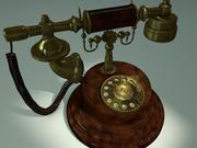 Vecchio telefono 3d model