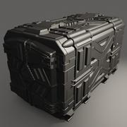 Sci-Fi Container 3d model