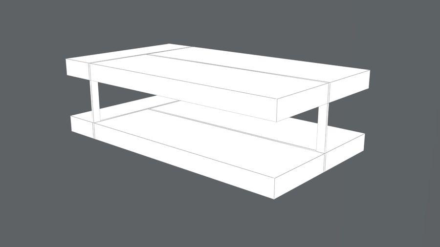 现代咖啡桌3D royalty-free 3d model - Preview no. 5