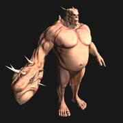 monstruo de fantasía modelo 3d