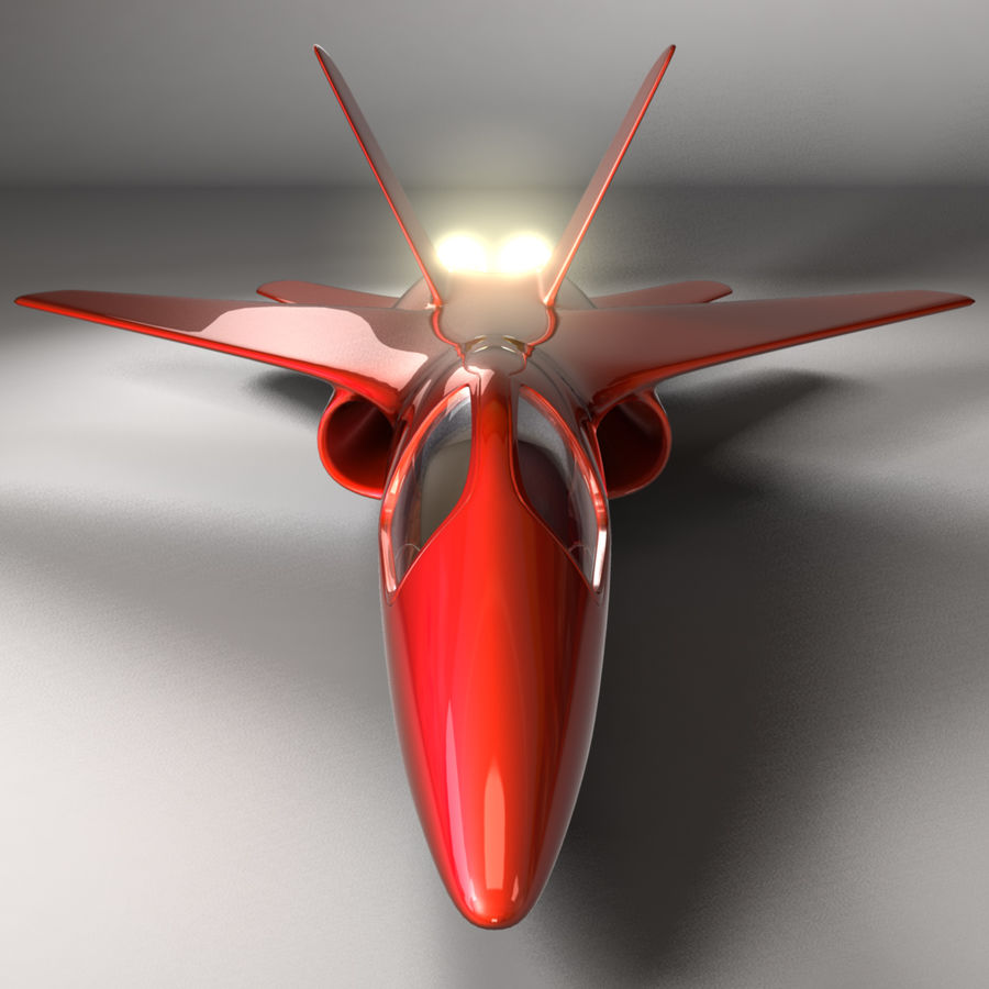 Jet Plane royalty-free 3d model - Preview no. 5