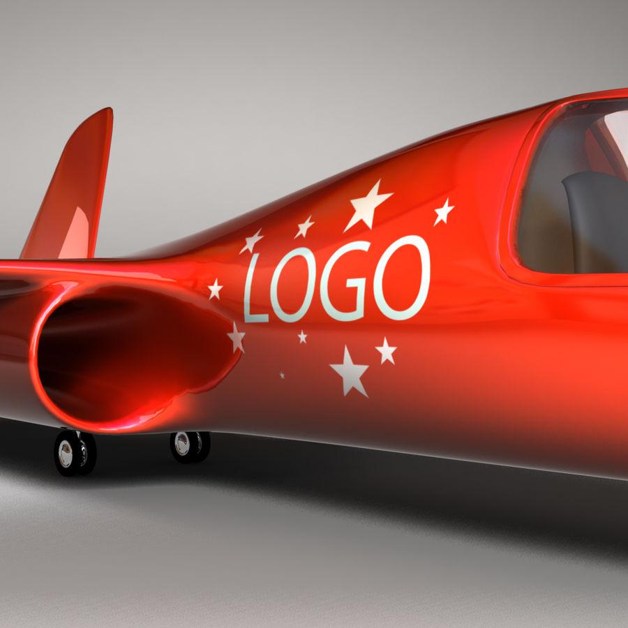 Jet Plane royalty-free 3d model - Preview no. 2