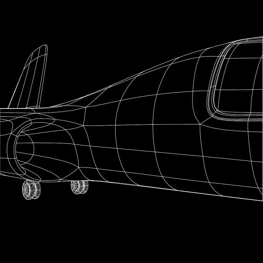 Jet Plane royalty-free 3d model - Preview no. 7
