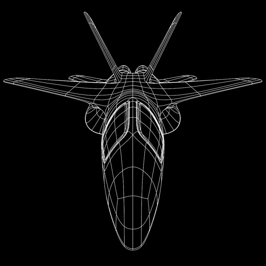 Jet Plane royalty-free 3d model - Preview no. 10