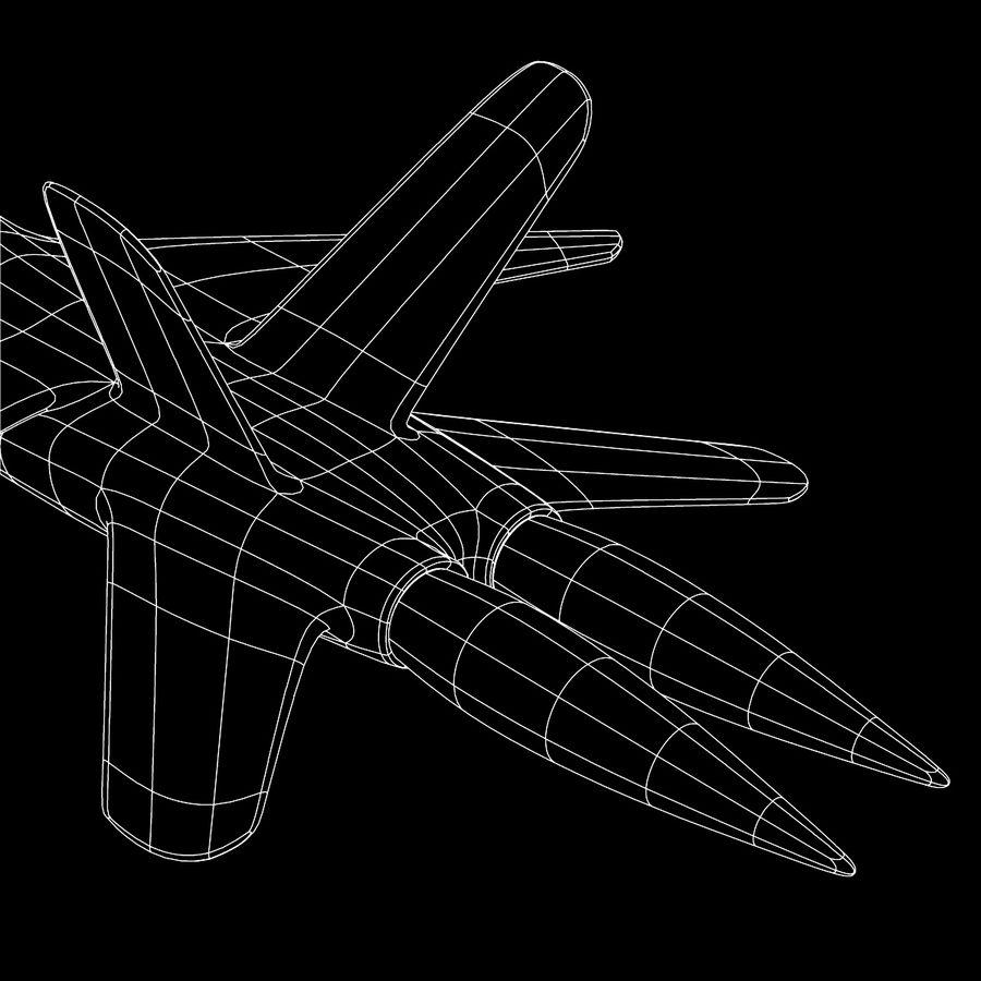 Jet Plane royalty-free 3d model - Preview no. 11