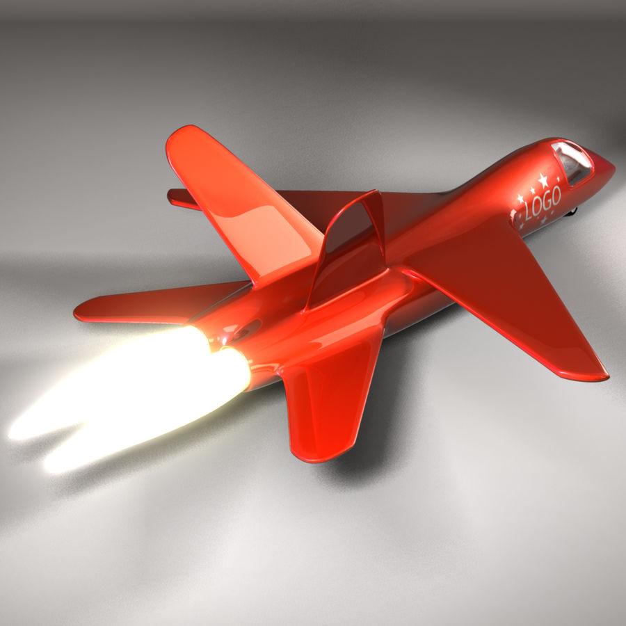Jet Plane royalty-free 3d model - Preview no. 3